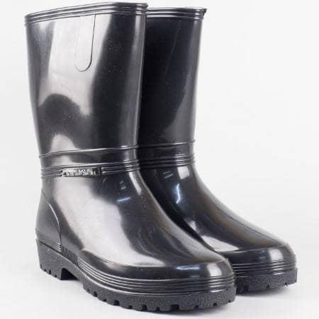 Гумени детки ботуши на комфортно и грайферно ходило в черен цвят 0052-40ch