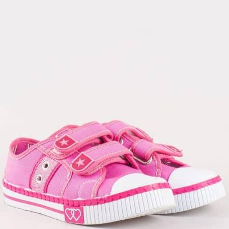 Детски гуменки с две велкро ленти на комфортно ходило на български производител в розов цвят 007-30rz