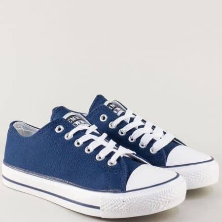 Дамски кецове на комфортно ходило в син цвят 032-40s