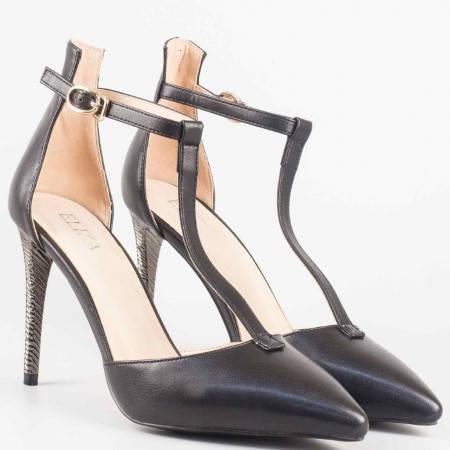 Черни дамски сандали със затворена пета 0478ch