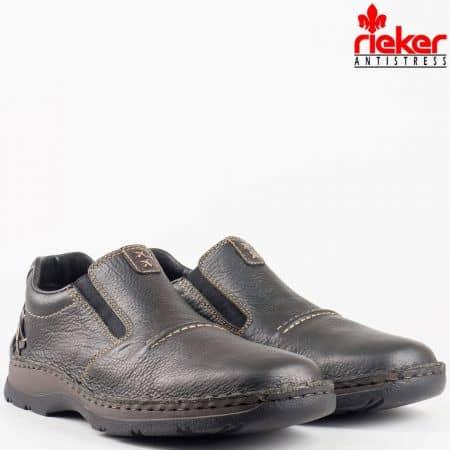 Мъжки ежедневни черни обувки на антистрес ходило с Tex-мембрана на швейцарската фирма Rieker Antistress 05366ch