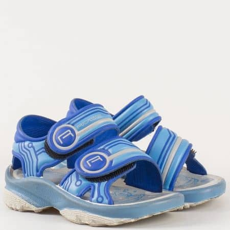 Детски сини сандали с две лепки на бразилският производител- Rider  1044821174