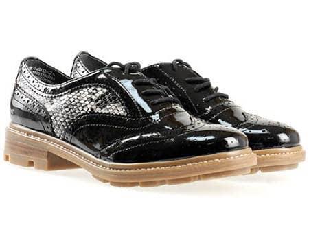 Немски дамски обувки Tamaris тип Оксфорд с връзки 1123700krlch
