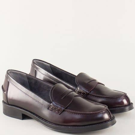 Дамски обувки на нисък ток- Aerosoles в цват бордо 121016bd