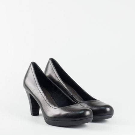 Немски обувки на ток естествена кожа Tamaris  с Antishokk 122410ch