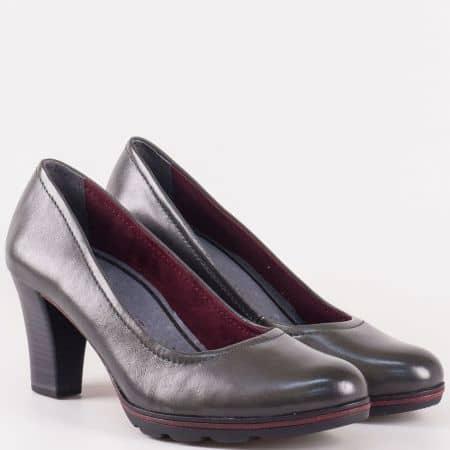 Сиви дамски обувки Tamaris с изчистен дизайн 122425sv