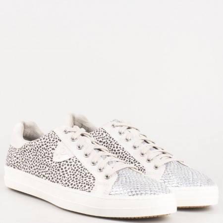 Актуални дамски обувки с връзки и ефектен леопардов принт на немският производител Tamaris 123656bjps