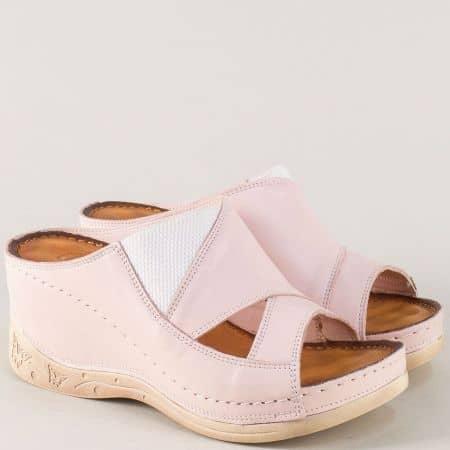 Розови дамски чехли на шито, анатомично ходило 134322rz