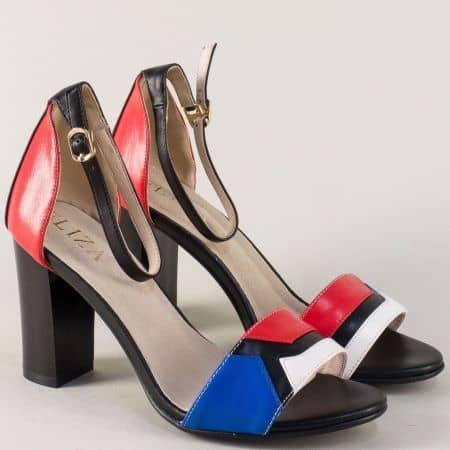 Модерни дамски сандали в няколко цвята на висок стабилен ток 1379488ps