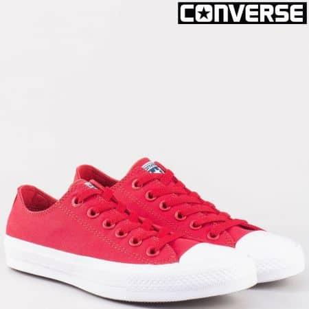 Модерни дамски кецове на марката Converse в червено 150151chv