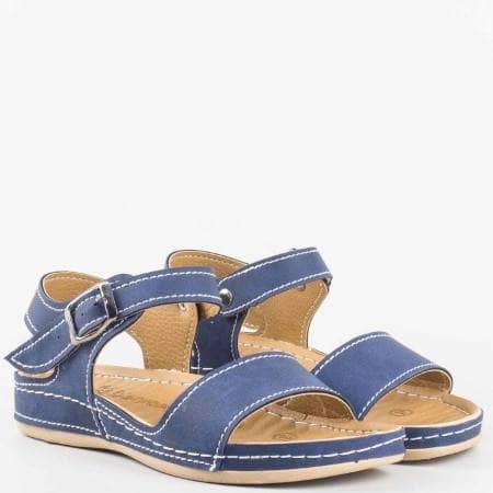 Детски ортопедични сандали с каишка на Mat star в син цвят 15153010s