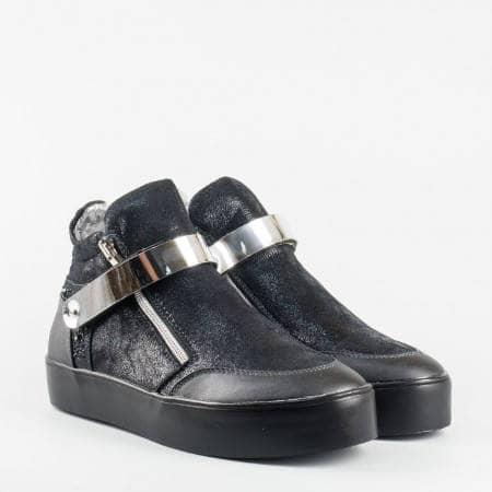 Дамски ежедневни боти на комфортна платформа в черен цвят 156572ch