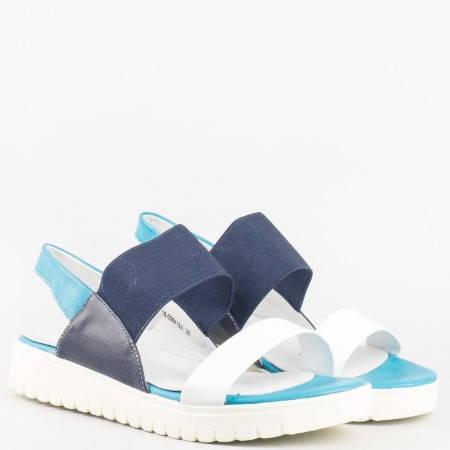 Дамски летни сандали на гъвкаво ходило на Mat star в цветова комбинация 16028416bs