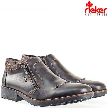 Мъжки боти Rieker-Antistress, изработени от висококачествена естествена кожа 16061kk