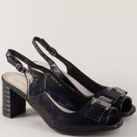 Черни дамски обувки на висок ток със стилна визия. 175741ch