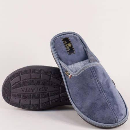 Сиви мъжки пантофи на равно комфортно ходило- Spesita 17783sv