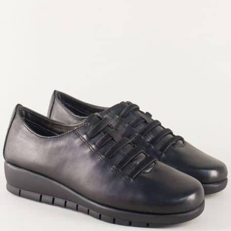 Кожени дамски обувки на платформа- Aerosoles в черно 190916ch