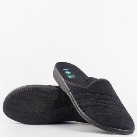 Мъжки комфортни пантофи на анатомично ходило в черен цвят 19561ch