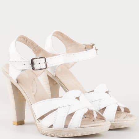 Дамски комфортни сандали произведени от изцяло естествена кожа на български производител в бяло 2027976b