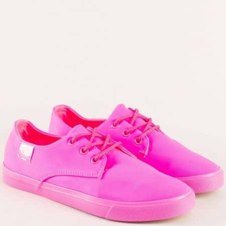 Спортни дамски обувки на комфортно ходило в розов цвят 2113ck