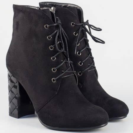 Модерни дамски боти Eliza в черно 21268vch