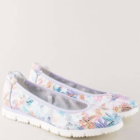 Пъстри дамски обувки Marco Tozzi от естествена кожа на равно ходило 222120ps