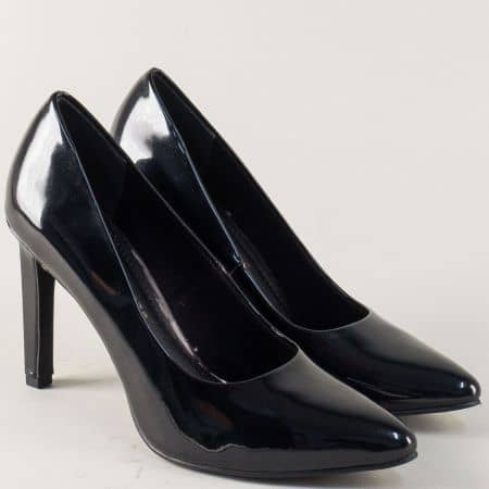 Черни дамски обувки на елегантен висок ток- Marco Tozzi  2222415lch