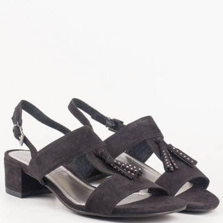 Черни дамски сандали Marco Tozzi с висулка 228207vch