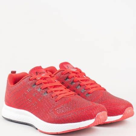 Комфортни, дишащи мъжки маратонки Athletic в червен цвят 2757-45chv