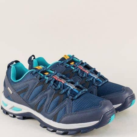 Сини мъжки маратонки Knup на равно ходило с връзки  293814-45s