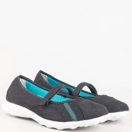 Черни спортни дамски обувки на комфортно ходило 30102-40ch