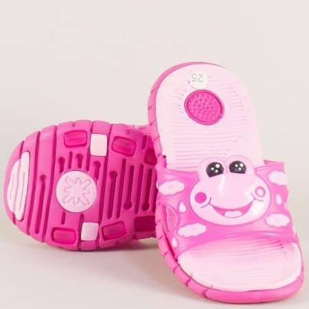 Розови детски джапанки на комфортно ходило  30130rz