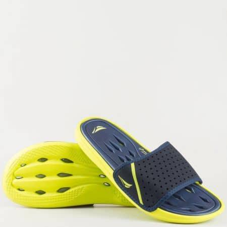 Сини мъжки чехли на олекотено ходило 30136z
