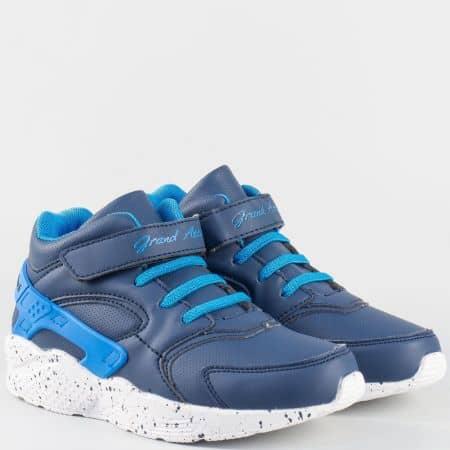 Сини детски маратонки на модерно ходило GRAND ATTACK 30185-35s
