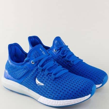 Мъжки маратонки на комфортно ходило в син цвят 30212-45s