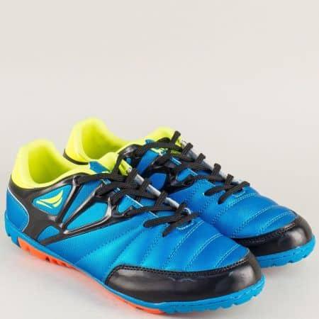 Спортни дамски обувки в син цвят на равно ходило 30222-40s
