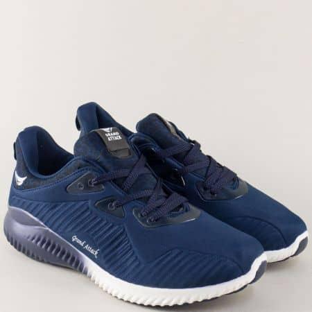 Тъмно сини мъжки маратонки на равно ходило 30230-45s