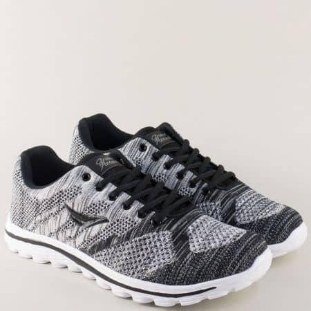 Мъжки маратонки на комфортно ходило в сив цвят 30232-45sv