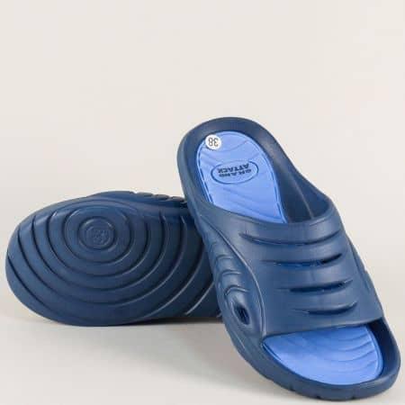Сини дамски джапанки на комфортно ходило 30269s