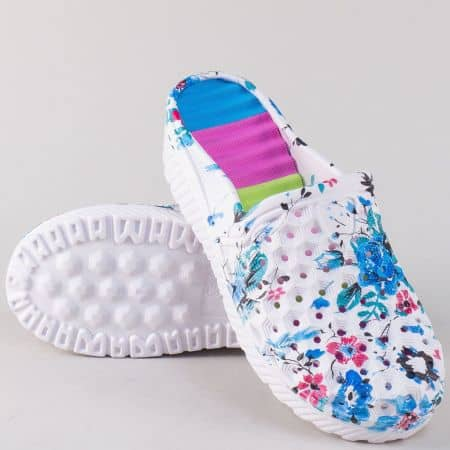Цветни дамски чехли на комфортна платформа  30281s