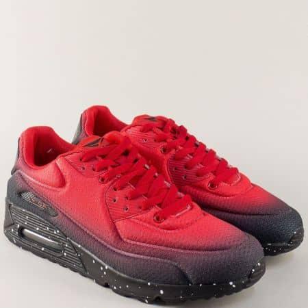 Мъжки маратонки в червен цвят на комфортно ходило 30288-45chv