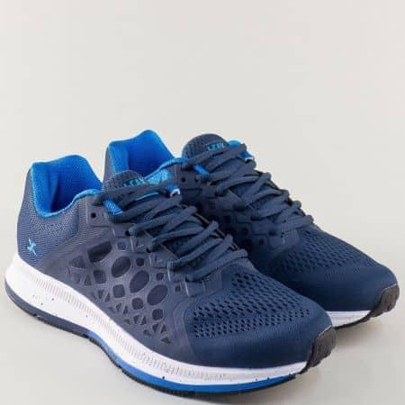 Тъмно сини мъжки маратонки Knup с връзки 323915-45s