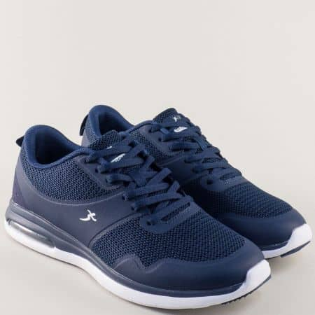 Тъмно сини мъжки маратонки Knup на удобно ходило 32512-45s