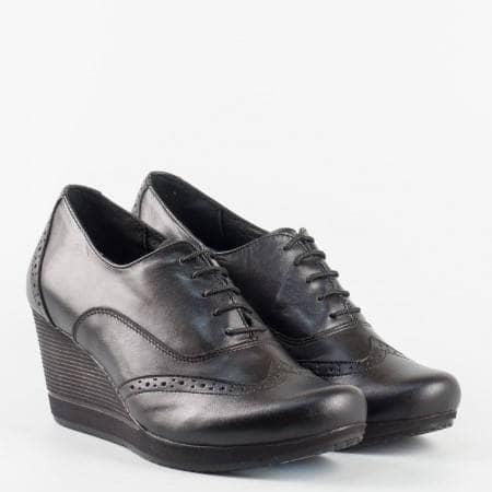 Български дамски обувки с перфо мотив от естествена кожа, произведени в Пещера 3582663ch