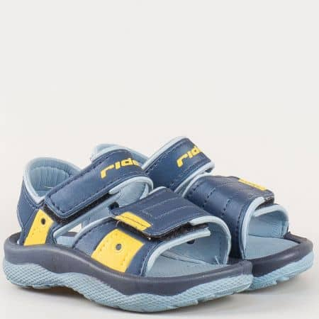 Детски бразилски сандали с две лепки- Rider в син цвят 3696821301