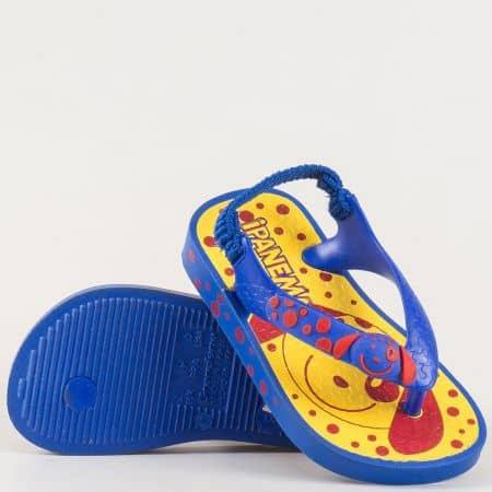 Детски сандали изработени от висококачествен силикон на бразилския производител Ipanema в жълто и синьо 3712020688