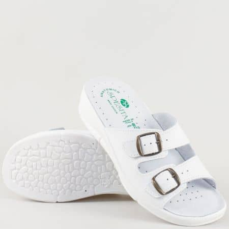 Анатомични дамски чехли Spesita в бял цвят 404b