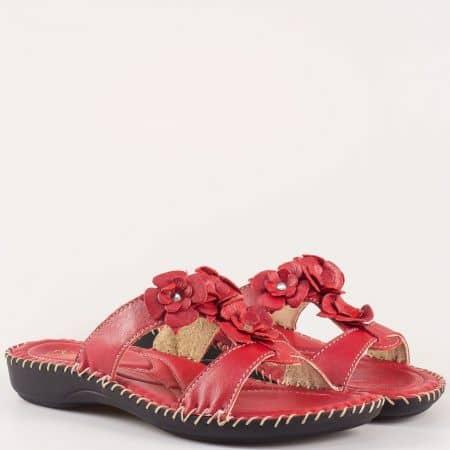 Червени анатомчини дамски чехли Glamourella 4056chv
