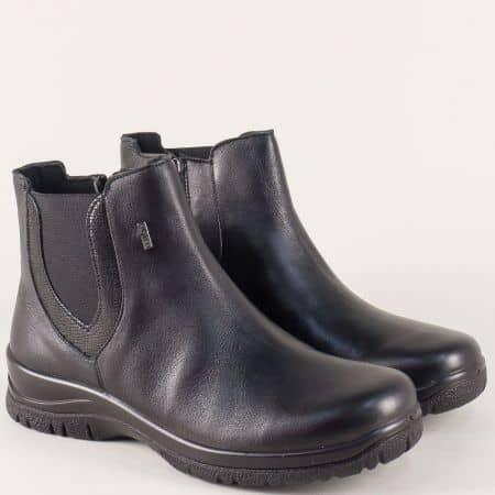Водоустойчиви дамски боти на платформа в черен цвят 42283ch
