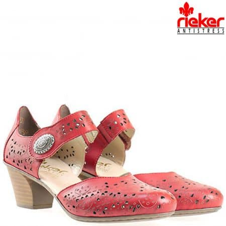 Комфортни дамски обувки Rieker със стилен и интересен дизайн 45096chv